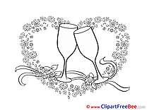 Glasses Heart Wedding free Illustration