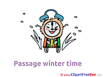 Sledge Clock free Cliparts Winter