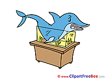 Aquarium Shark printable Illustrations for free