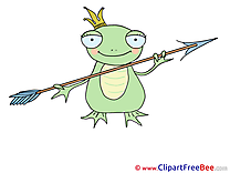 Arrow Frog printable Illustrations for free
