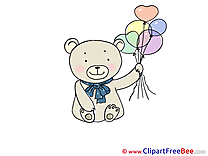 Balloons Bear free Illustration download