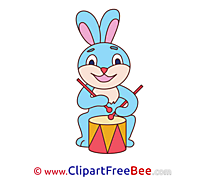 Hare Drum Clipart free Illustrations
