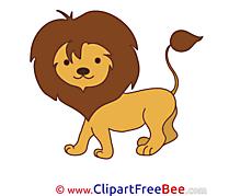 Lion Pics printable Cliparts