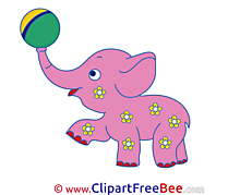 Pink Elephant printable Images for download