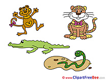 Zoo Animals free Cliparts for download
